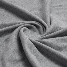 Silver Grey - Plain 100% Cotton Interlock Double Jersey